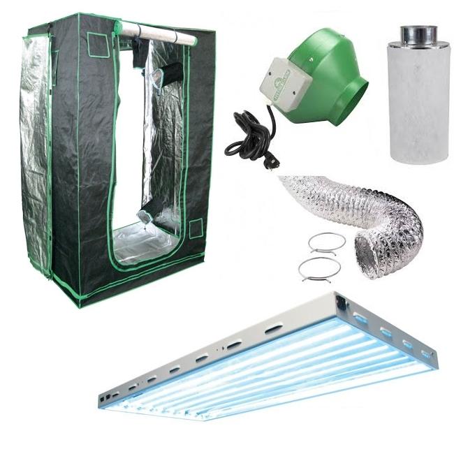 All-In-One Indoor Garden Package 2x4 SunHut Grow Tent w/ T5 Light
