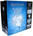 Hurricane Wall Mount Oscillating Fan 16""