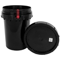 Harvest Keeper Odor Lock 12 Gal Black Bucket with Lid