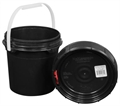 Harvest Keeper Odor Lock 1.25 Gal Black Bucket with Lid