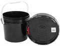 Harvest Keeper Odor Lock 2.5 Gal Black Bucket with Lid
