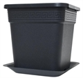 Black Square Saucer for 5 Gallon Square Pot