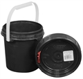 Harvest Keeper Odor Lock 0.6 Gal Black Bucket with Lid