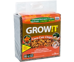 GROW!T Organic Coco Coir Planting Chips Block (2 cu ft)