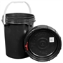 Harvest Keeper Odor Lock 5 Gal Black Bucket with Lid