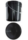 5 Gallon Black Bucket w/ Lid