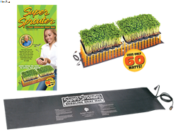 "Super Sprouter Double Seedling Heat Mat 40"" x 10"""