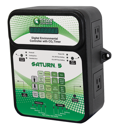 Titan Saturn 5 Temperature Humidity and CO2 Controller